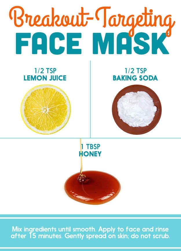Honey + Lemon Juice + Baking Soda