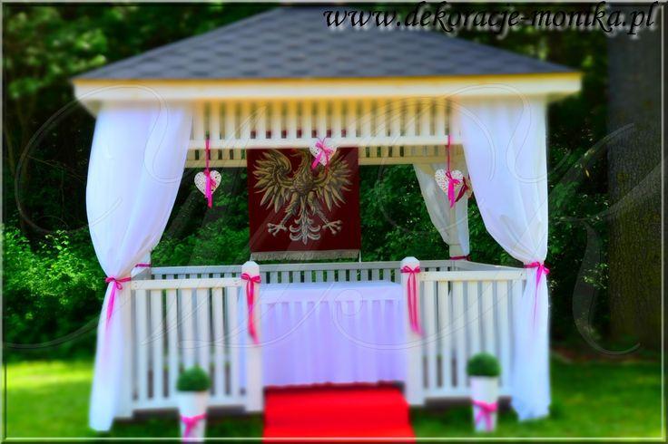 garden wedding, ślub w plenerze, ślub cywilny w plenerze, ślub w altanie, ślub w plenerze Zawiercie, dekoracje plenerowe śląsk