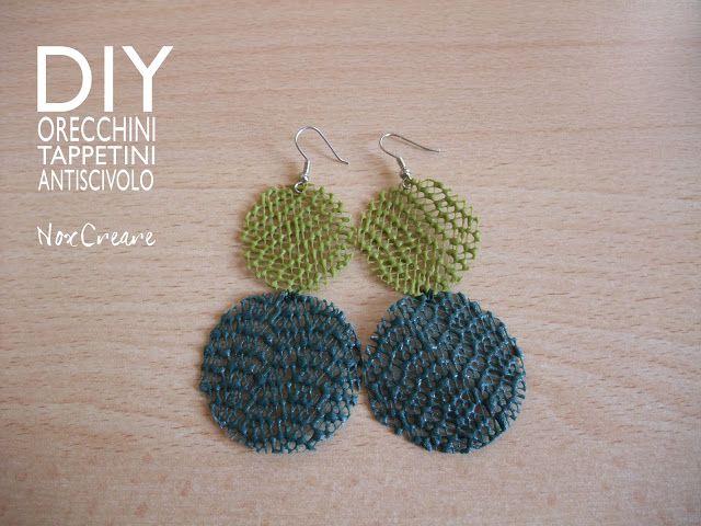 DIY- NoxCreare: DIY orecchini verdi con tappetini da cucina