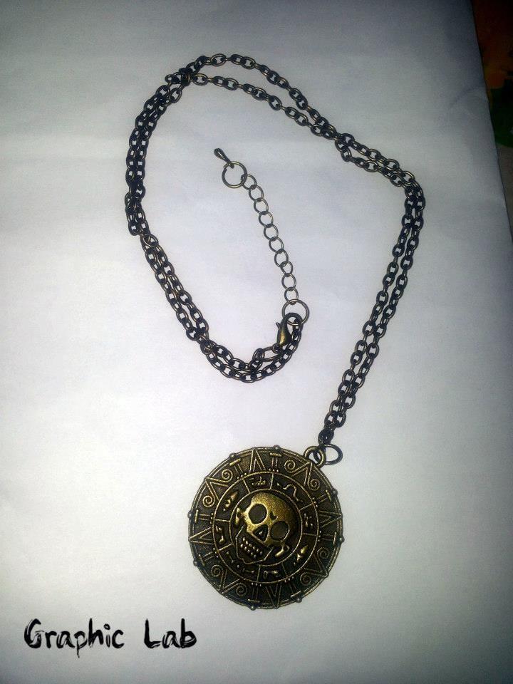Collana Medaglione Pirati dei Caraibi