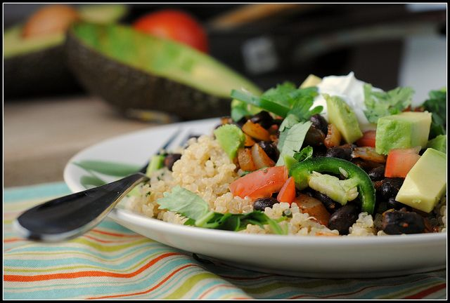 Quinoa Black Bean Burrito Bowls | foods to try | Pinterest