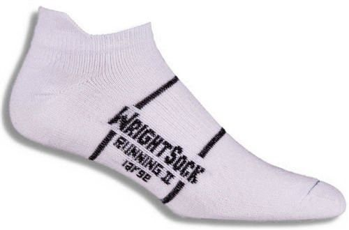 WightSock Double Layer Anti Blister Running II Tab Socks, Men's, Size: Medium, WhiteJet