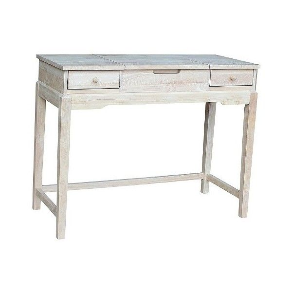 Vanity Table Unfinished ($178) ❤ Liked On Polyvore Featuring Home, Furniture,  Tables