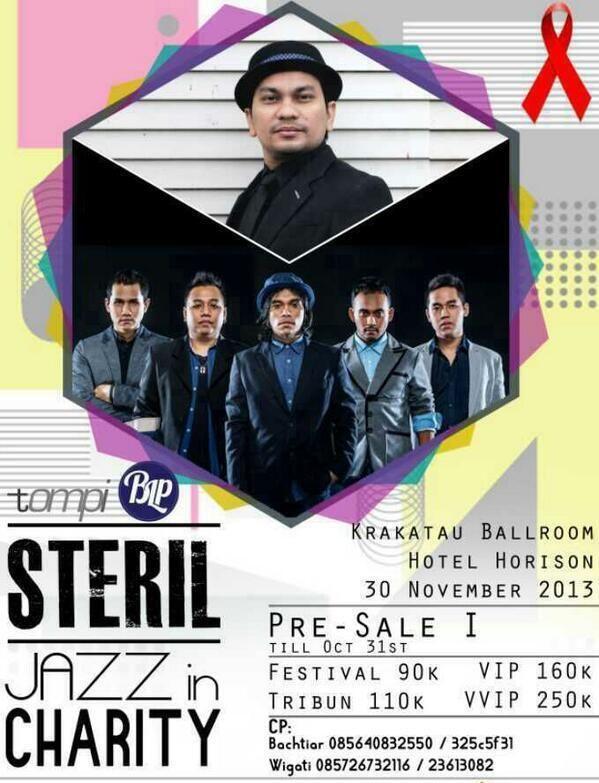 #eventjazz STERIL - Jazz in Charity 30 Nov 2013. Kratakau Ballroom, Hotel Horison Semarang.