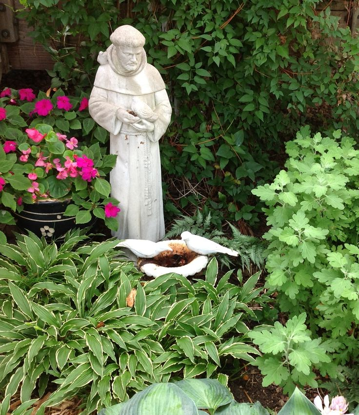 Whimsical garden art photograph st francis statue garden f for Whimsical garden statues