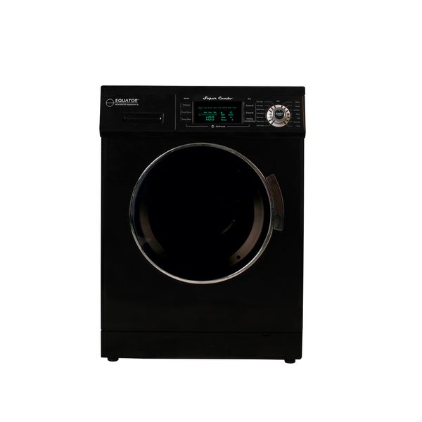 Equator 13-pound Black Convertible Combo Washer Dryer with Optional Venting/ Condensing Drying
