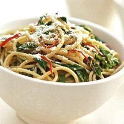 Spaghetti with chilli, lemon & rocket @ allrecipes.com.au
