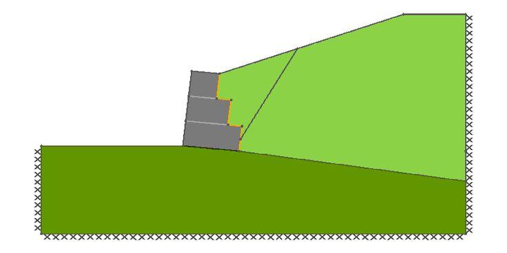LimitState: ГЕО - Габионы несущая стена Отказ