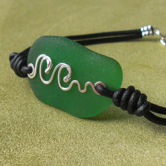 Sea Glass Jewelry - waves by Ecstasea, via Flickr