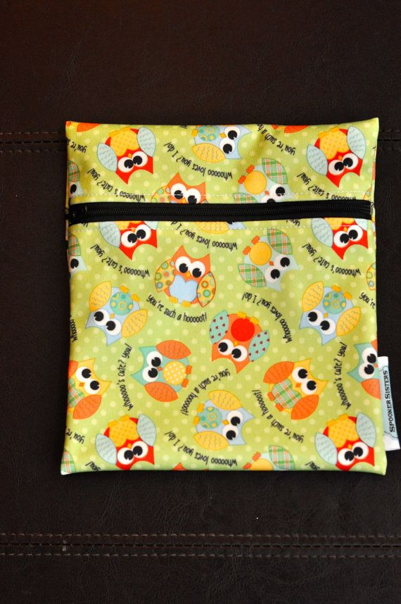 Babyville Owls Reusable Waterproof by SpoonerSistersDesign on Etsy, $8.00