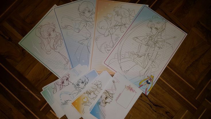 Carta da lettera A4 e buste coordinate tema Sailor Moon