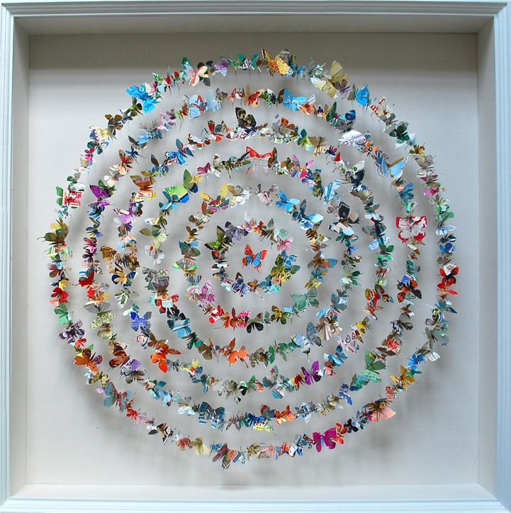 Paper Patterns Form Lively Butterfly Sculptures by Rebecca Coles | My Modern Metropolis
