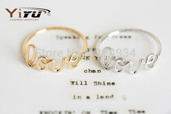 2016 New Fashion Hot Fashion Exquisite Alloy Love Letters Friendship Ring Women Simple Cute Cool Rings R018 ** This is an AliExpress affiliate pin.  Item can be found on AliExpress website by clicking the VISIT button