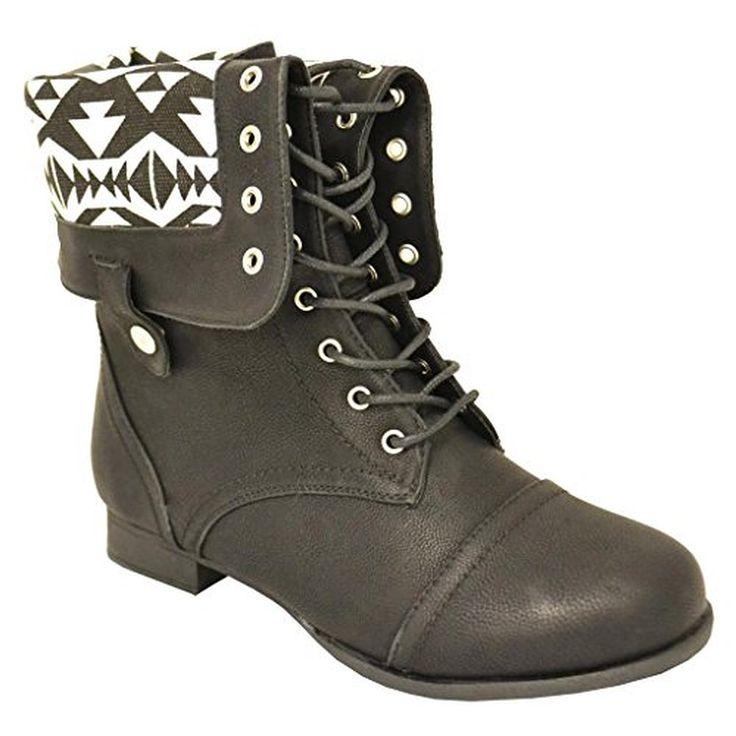 Womens black combat boots size 11