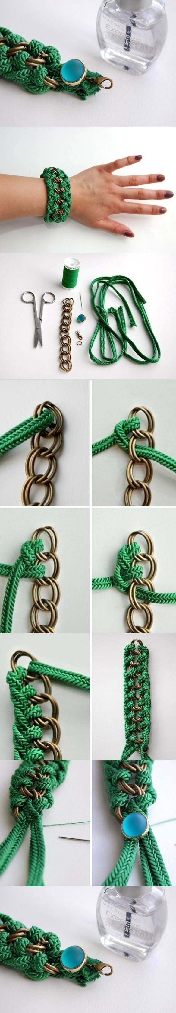 DIY Beautiful Green Braided Bracelet | iCreativeIdeas.com Like Us on Facebook ==> https://www.facebook.com/icreativeideas