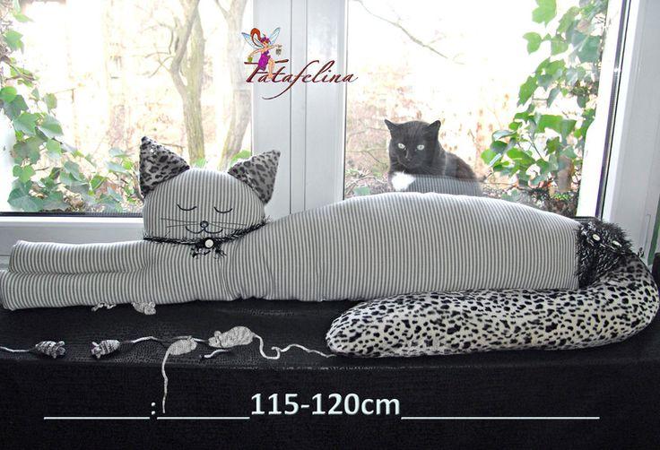Zugluftstopper Katze Deko Katze  'Leopold' von Fatafelina auf DaWanda.com