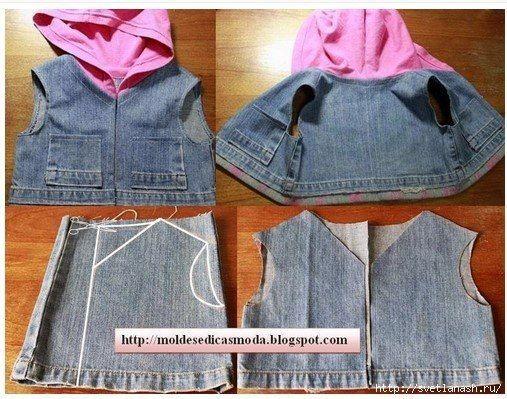 Un viejo par de jeans es ya sea en dificultades a la perfección y se adapta