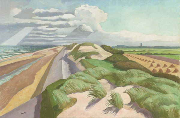 John Nash R.A. - Norfolk Coast c.1932. He served in The Artists Rifles during WWI.