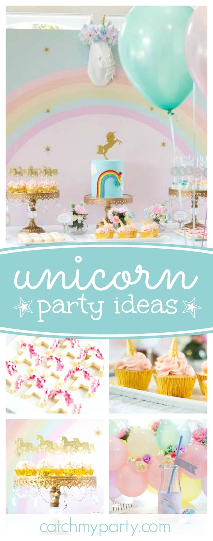 Astonishing 150 Best Images About Unicorn Birthday Party Ideas On Pinterest Hairstyles For Women Draintrainus