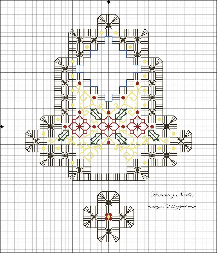 Humming Needles: Hardanger ornament patterns