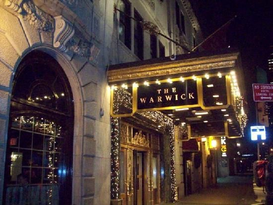 This is where we'll be staying...Warwick Hotel, New York, NY