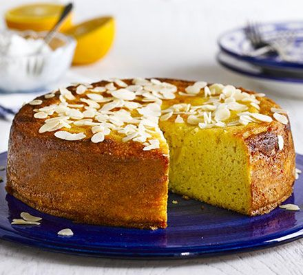 Replace sugar with xylitol and swap butter and oil for a puréed whole orange in this light and zesty cake, with ground almonds and polenta