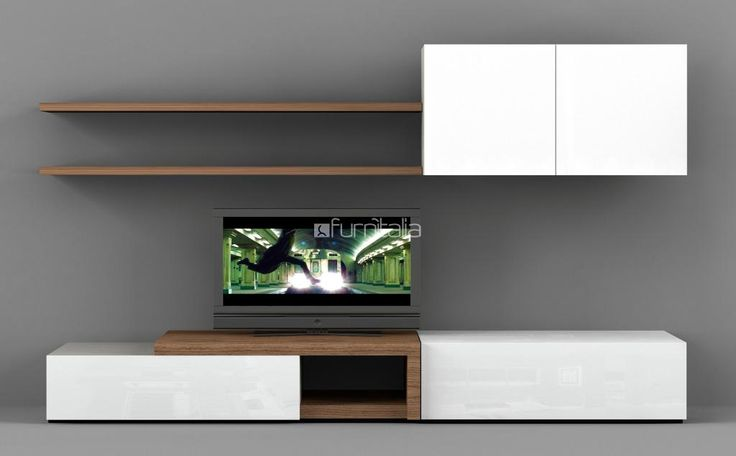 Novecento Wall Unit - Entertainment / Media / Wall Units - Natuzzi Italy | Modern Furniture Store Sacramento Roseville