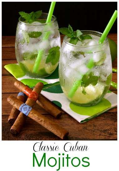 The classic mojito is a traditional Cuban libation made with lime, mint and rum. | KitchenDreaming.com |