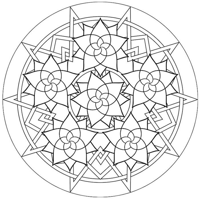 1001 Coole Mandalas Zum Ausdrucken Und Ausmalen Mandalas Zum