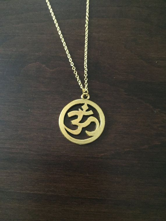 om necklace om jewelry om charm om pendant om gold by KMSupplies