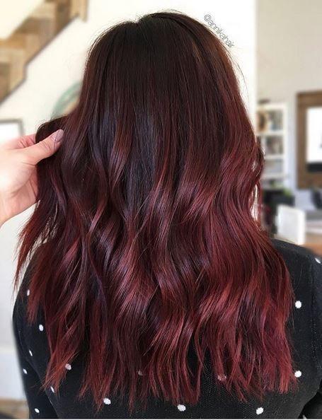 Best Hair Color Ideas 2017 / 2018 maroon or burgundy hair color