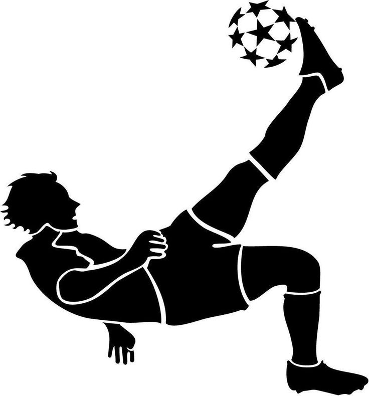 Soccer Bicycle Kick Vinyl Decal Sticker | 5.5-Inches | Premium Black Vinyl