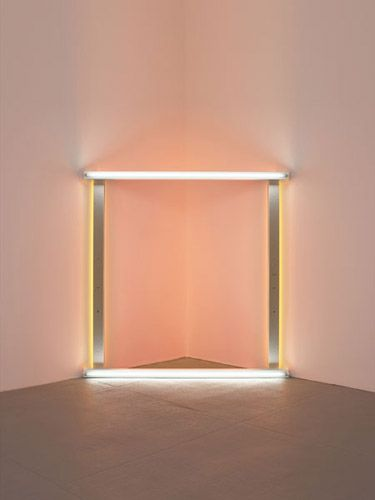 "dan flavin, untitled (to the ""innovator"" of Wheeling Peachblow), 1966-1968"