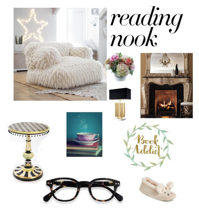 """cozy reading room"" by alexandra-serban-1 on Polyvore featuring interior, interiors, interior design, home, home decor, interior decorating, Nook, PBteen, Ambella and Eichholtz"