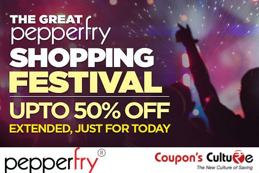 ‪#‎Pepperfry‬ ‪#‎Shopping‬ ‪#‎Festival‬ Upto 50% Off on ‪#‎Furniture‬, ‪#‎HomeDecor‬ and more. Shop Now