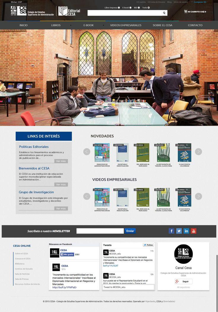 Diseño para portal de editorial CESA