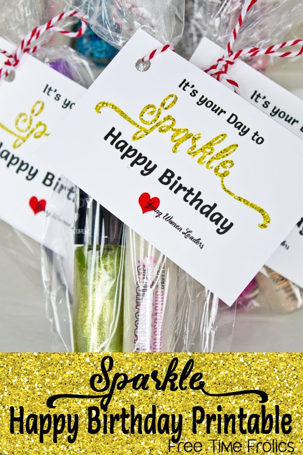 Sparkle Birthday printable via www.freetimefrolics.com