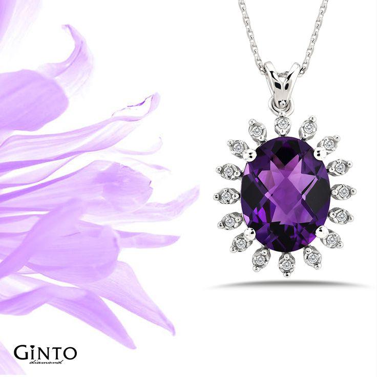 Pırlanta Ametist Kolye Ürün Kodu🔎GNT613757  www.gintopirlanta.com  #gintopirlanta #gintodiamond #pırlanta #pirlanta #yuzuk #yüzük #tektaş #bestas #kolye #hediye #hediyekolye #ametist #amethyst #renklitaş #instagram #necklace #sertifika #instagood #mücevher #jewellery