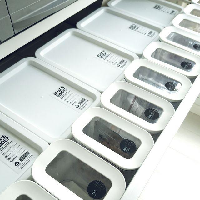 mimi24さんの、ニトリ,調味料収納,収納,Daiso,100均,モノトーン,白黒,キッチン,のお部屋写真