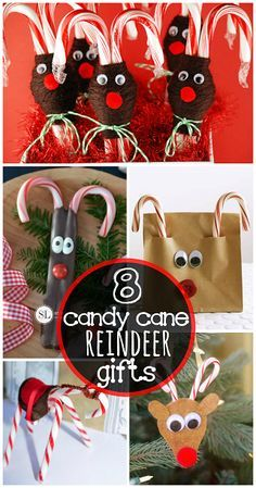 Candy Cane Reindeer Gift and Craft Ideas for Christmas! | CraftyMorning.com