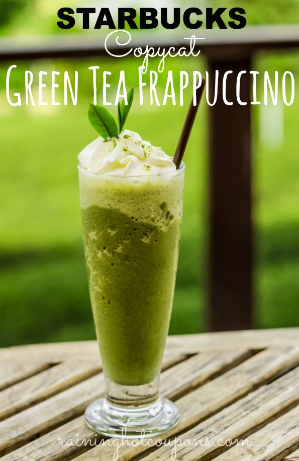 Starbucks Copycat Green Tea Frappuccino (Less Than 200 Calories!) - Raining Hot Coupons