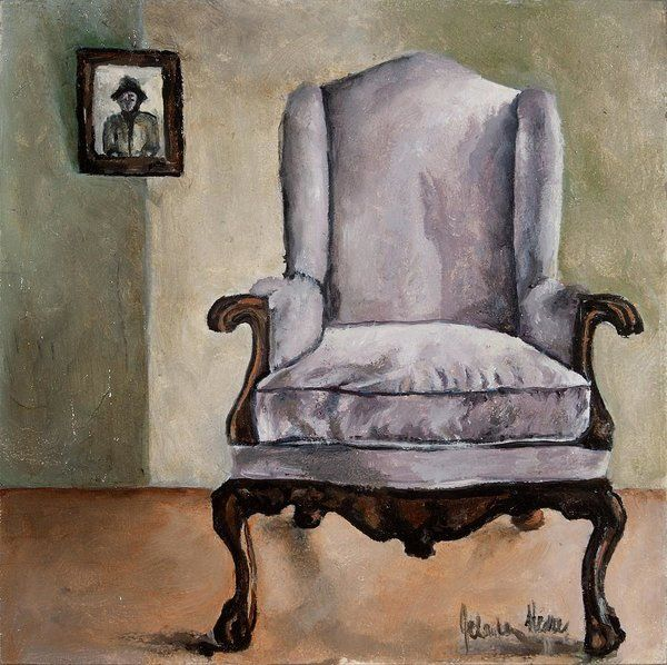 Chair Print featuring the painting Memory Chair by Jolante Hesse