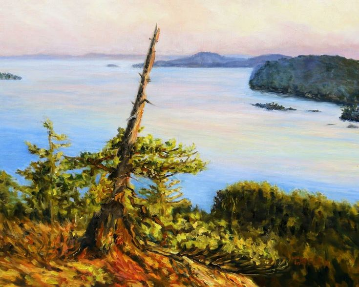 Evening View Over Navy Channel by Terrill Welch - sold