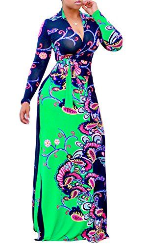 New PiePieBuy Women Plus Size Dashiki Traditional Graffiti Printed V Neck Sash African Maxi Dress Ball Gown online. Find the  great Bbonlinedress Dresses from top store. Sku bnnt38223xkdt38814