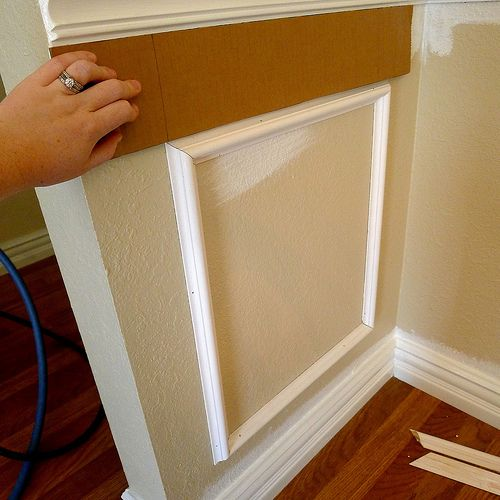 template for trim great tip on how to get the spacing right on the picture frame molding below the chair rail more