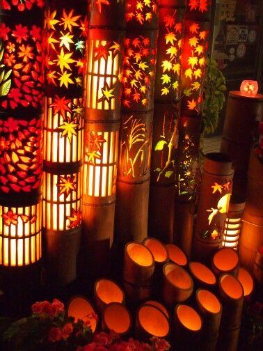 小城市 竹灯籠