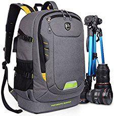 Abonnyc Dslr SLR Camera Backpack Rucksack Bag Case Shockproof Waterproof for Canon Nikon Sony Panasonic Olympus Pentax and Accessories ,Grey
