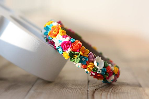 Handmade bracelet. Polymer clay. by SolarFlower on Etsy