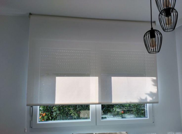 instalacin de un estor enrollable con tejido tcnico screen en una cocina ste tejido permite