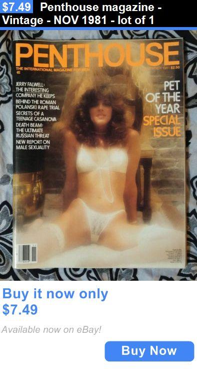Magazines: Penthouse Magazine - Vintage - Nov 1981 - Lot Of 1 BUY IT NOW ONLY: $7.49